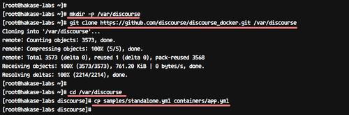 Clone discourse docker