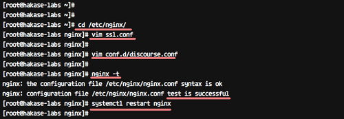 Test nginx config and restart nginx