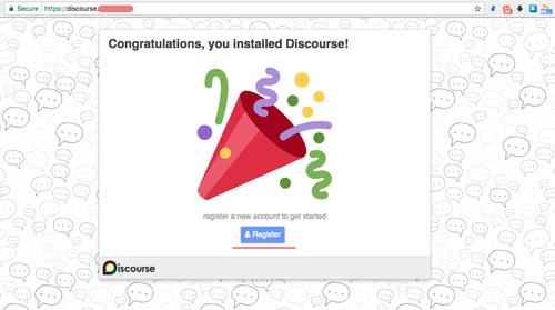 Discourse web installer