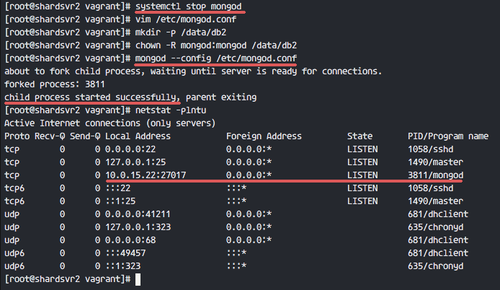 MongoDB is running on the local network address