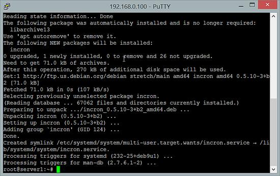 Installing Incron on Debian 9