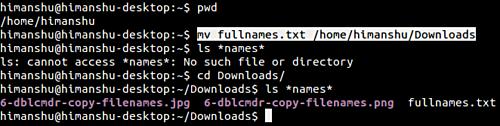 Linux mv command