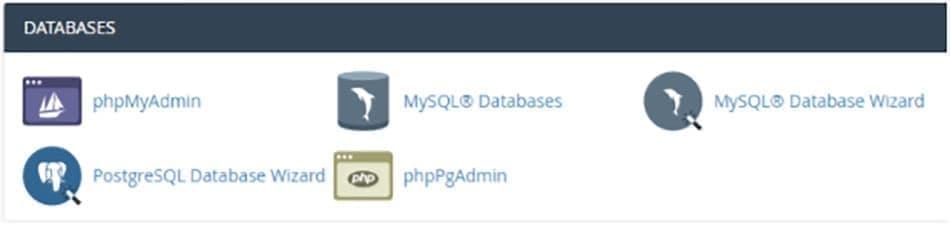 مدیریت پایگاه داده در سی پنل