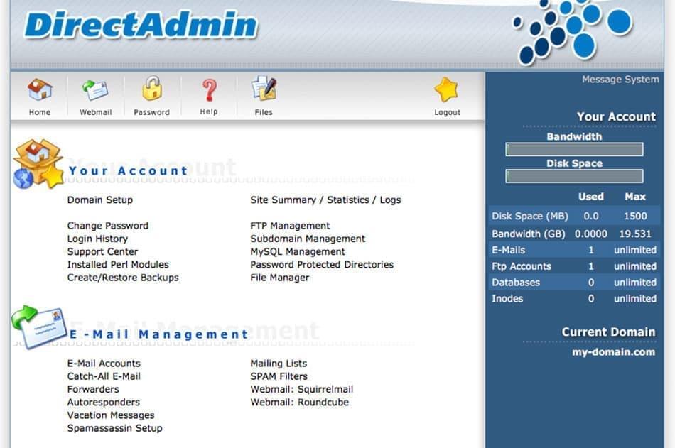 معرفی کنترل پنل دایرکت ادمین Direct Admin