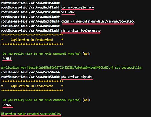 Configure install environment