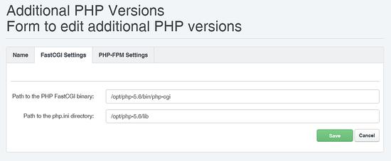 PHP 5.6 FCGI
