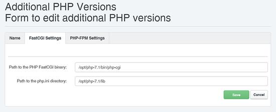 PHP 7.1 FCGI