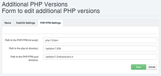 PHP 7.2 FPM