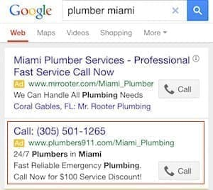 تبلیغات تماسی گوگل در موبایل