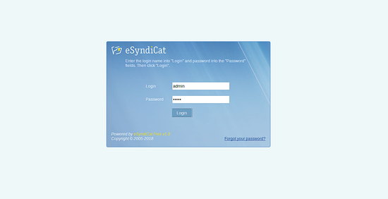 eSyndicat admin login