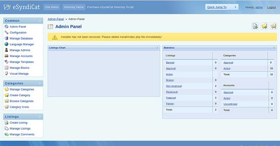 eSyndicat admin panel