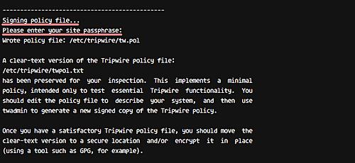 Sign tripwire policy