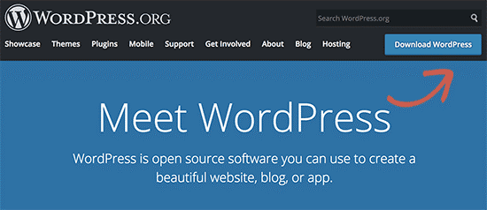 دانلود وردپرس از وب سایت WordPress.org