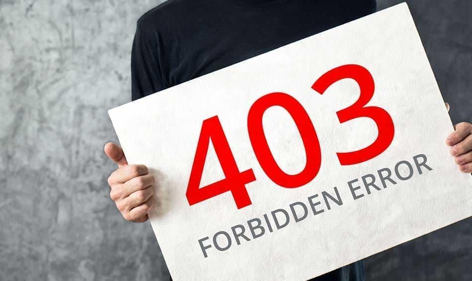 نحوه رفع خطای ۴۰۳ Forbidden در وردپرس