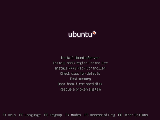 Start the Ubuntu installation.