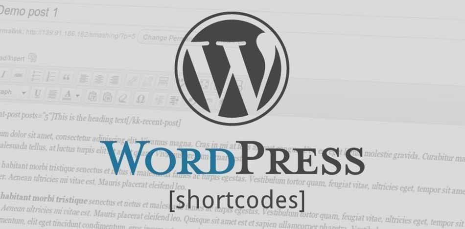 استفاده از کدهای کوتاه وردپرس در ابزارک ها
