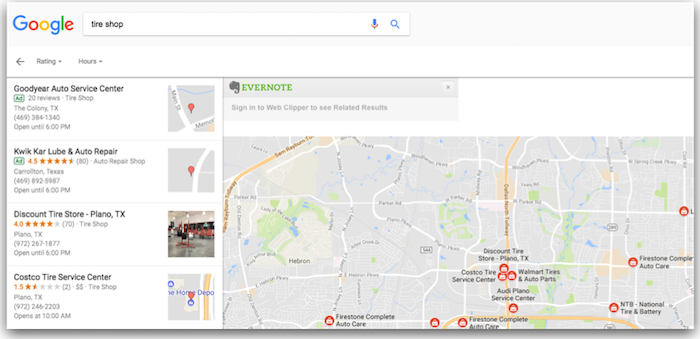 نمایش تبلیغ در جستجوی محلی گوگل maps
