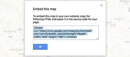 قراردادن کد نقشه تعاملی در وردپرس