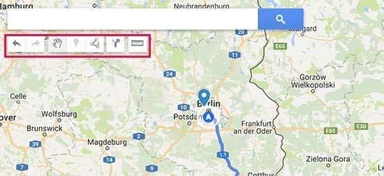 نوار ابزار google my maps
