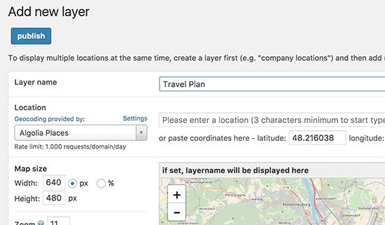 ایجاد لایه جدید برای نقشه تعاملی در وردپرس با افزونه Maps Marker Pro