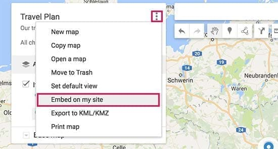 قراردادن نقشه تعاملی در سایت وردپرس