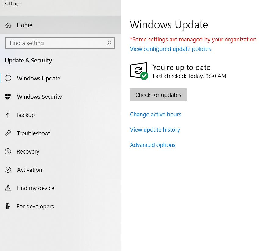 آپدیت ویندوز - امنیت ویندوز