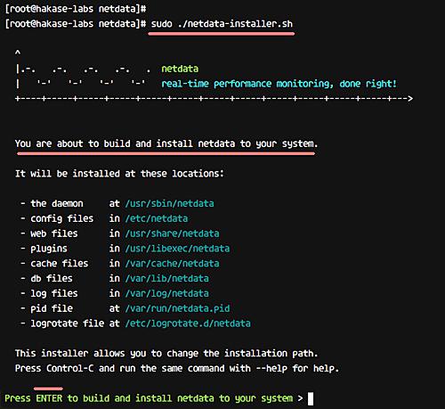 Install Netdata