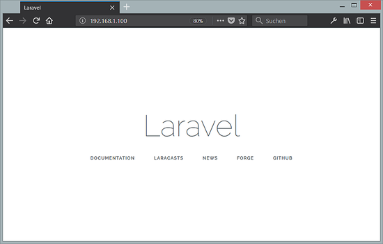 Laravel installed on Ubuntu 18.04 LTS