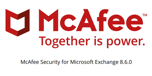McAfee Security for Microsoft Exchange 8.6.0