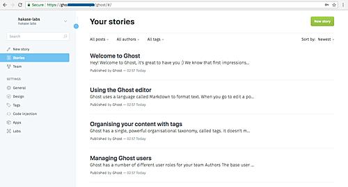 مدیریت کانفیگ سرور دامنه   Docker Guide: Deploying Ghost Blog with