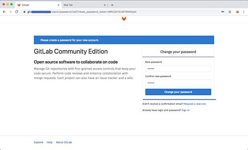 Set Gitlab root password