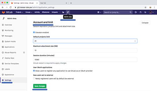 Set account limits
