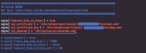 Configure SSL in Gitlab
