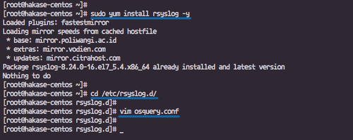 Configure osquery to read the syslog