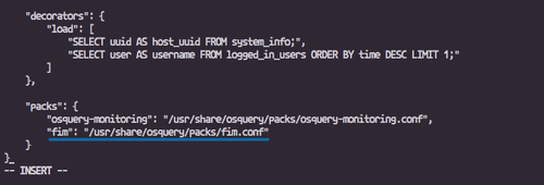 osquery file monitoring