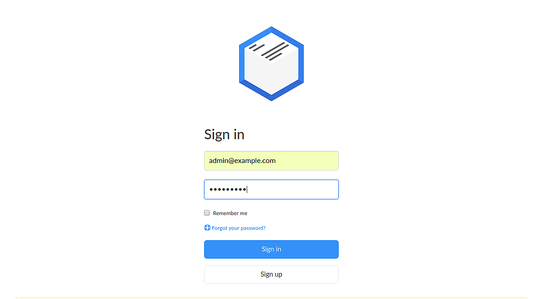 Sign in to Paperwork