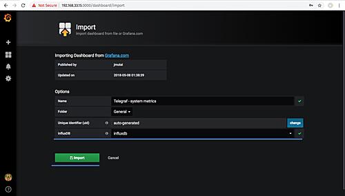 Influxdb server import