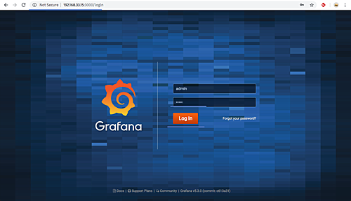 Login to Grafana
