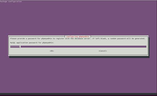 Set MySQL application password