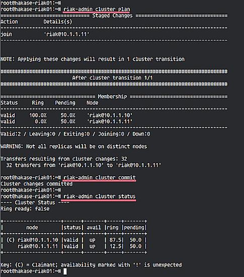 riak-admin cluster status