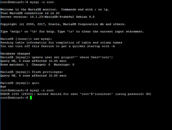 Remove plugin from MySQL root user