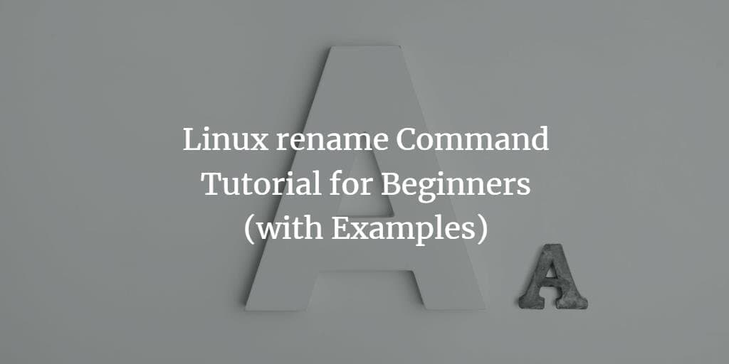 Linux rename Command Tutorial for Beginners (with Examples)