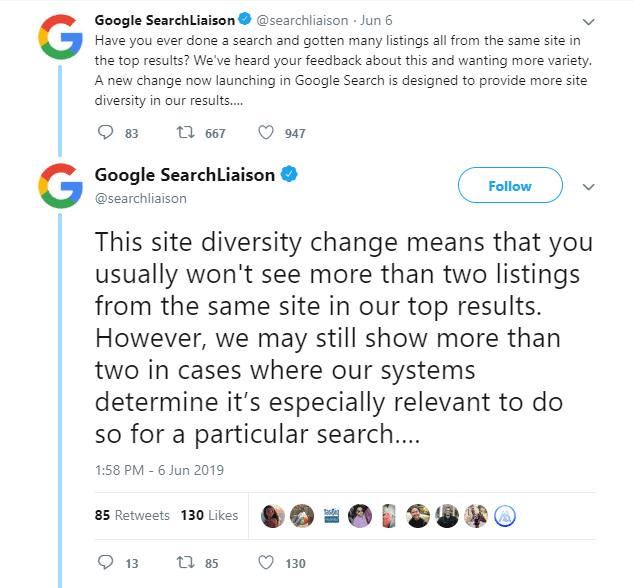 نتایج گوگل متنوع و محدود میشوند