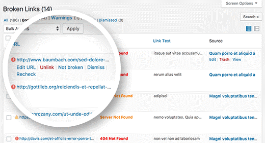 پلاگین پیدا کردن لینکهای شکسته سایت