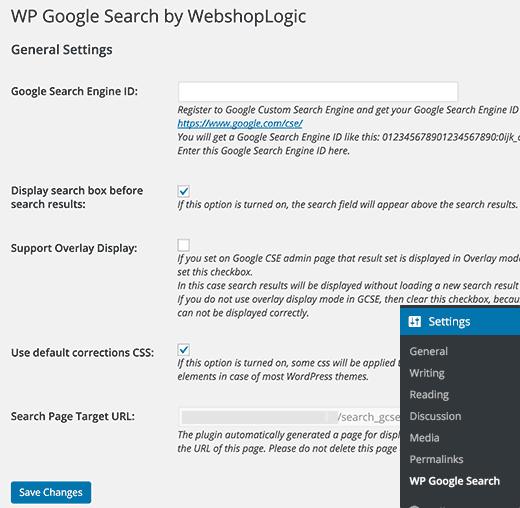 آموزش افزودن جستجوی گوگل در وردپرس wordpress