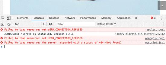 خطای Failed to load Resource در وردپرس