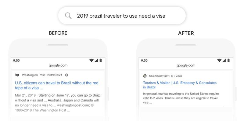 تاثیر الگوریتم برت گوگل بر روی نتایج جستجو