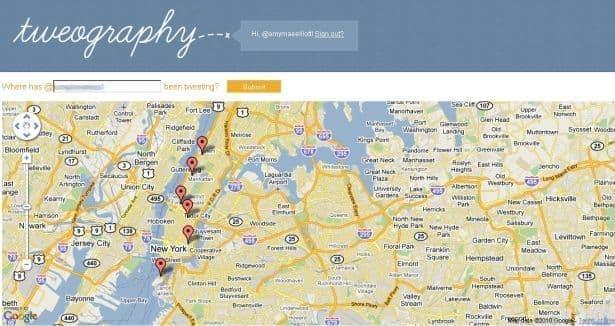 جستجوی مکانی در توییتر