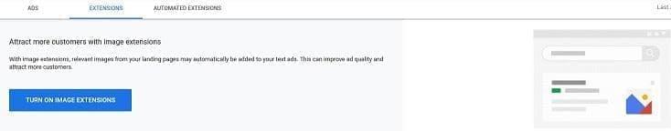 فعال کردن افزونه تصویر در google ads