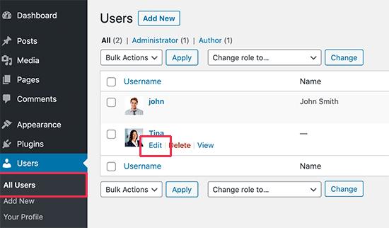 آموزش باکس اطلاعات نویسنده در وردپرس